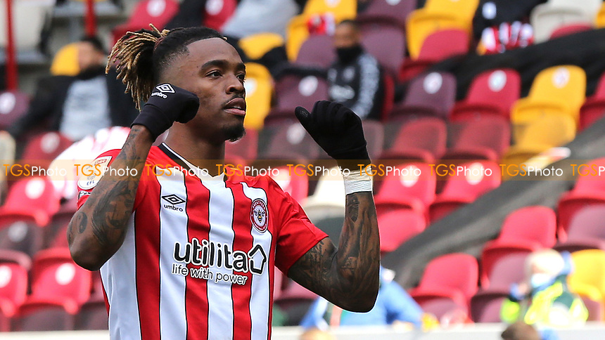 Ivan Toney celebrates scoring Brentford's second goal during Brentford vs Watford, Sky Bet EFL Championship Football at the Brentford Community Stadium on 1st May 2021