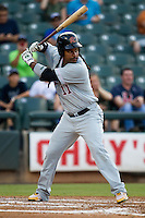 Sacramento River Cats designated hitter Manny Ramirez #11 at bat during the Pacific Coast League baseball game against the Round Rock Express on May 22, 2012 at The Dell Diamond in Round Rock, Texas. The Express defeated the River Cats 11-5. (Andrew Woolley/Four Seam Images)