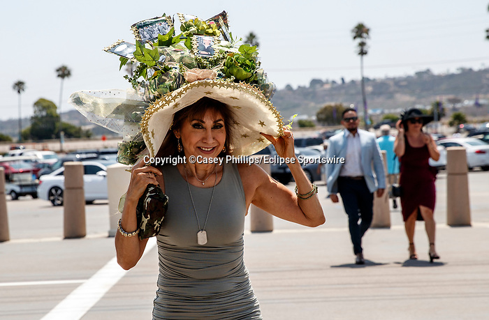 DEL MAR, CA  JULY 16: Hat honoring military personnel. (Photo by Casey Phillips/Eclipse Sportswire/CSM)