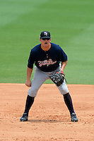 Tampa Yankees first baseman Saxon Butler (55) during a game against the Jupiter Hammerheads on July 18, 2013 at Roger Dean Stadium in Jupiter, Florida.  Jupiter defeated Tampa 6-1.  (Mike Janes/Four Seam Images)