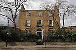 "Canonbury Square London N1. Typical Georgian terrace houses. UK 2008.""Northampton House"" Estorick collection"""
