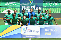 PALMIRA - COLOMBIA, 14-10-2020: Jugadores del Cali posan para una foto previo al partido entre Deportivo Cali y Boyacá Chicó F.C. por la fecha 14 de la Liga BetPlay DIMAYOR I 2020 jugado en el estadio Deportivo Cali de la ciudad de Palmira. / Players of Cali pose to a photo prior match for the date 14 as part of BetPlay DIMAYOR League I 2020 between Deportivo Cali and Boyaca Chico F.C. played at Deportivo Cali stadium in Palmira city.  Photo: VizzorImage / Nelson Rios / Cont