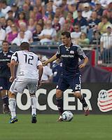 New England Revolution midfielder Marko Perovic (29) looks to pass as Chicago Fire midfielder Logan Pause (12) defends. New England Revolution midfielder Marko Perovic (29) The Chicago Fire defeated the New England Revolution, 1-0, at Gillette Stadium on June 27, 2010.