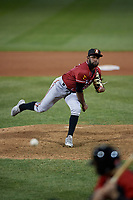 Altoona Curve pitcher Joel Cesar (38) during an Eastern League game against the Erie SeaWolves on June 3, 2019 at UPMC Park in Erie, Pennsylvania.  Altoona defeated Erie 9-8.  (Mike Janes/Four Seam Images)