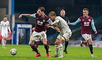 9th January 2021; Turf Moor, Burnley, Lanchashire, England; English FA Cup Football, Burnley versus Milton Keynes Dons; Ashley Barnes of Burnley shields the ball