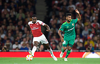 Danny Welbeck of Arsenal & Artur Sérgio Batista de Souza of Vorskla Poltava during the UEFA Europa League match group between Arsenal and Vorskla Poltava at the Emirates Stadium, London, England on 20 September 2018. Photo by Andrew Aleksiejczuk / PRiME Media Images.