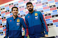 Spain's Daniel Parejo (l) and Diego Costa in press conference after training session. March 21,2018.(ALTERPHOTOS/Acero) /NortePhoto.com NORTEPHOTOMEXICO