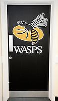 Photo: Richard Lane/Richard Lane Photography. Wasps v London Irish. Aviva Premiership. 21/12/2014. Wasps' first game at the Ricoh Arena as their new home. Wasps door.