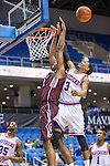 Texas-Arlington Mavericks guard Jamel Outler (3) in action during the game between the Arkansas Little Rock Trojans and the Texas Arlington Mavericks at the College Park Center arena in Arlington, Texas. UALR defeats UTA 72 to 70.