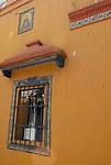 A tiled window in Seville, Spain.