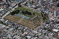 aerial photograph Pacific Heights Alta Heights park residential neighborhood San Francisco California