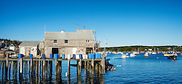 Quaint fishing village, Friendship, Maine, USA