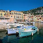 France, Côte d'Azur, Villefranche-sur-mer: Harbour and Town | Frankreich, Côte d'Azur, Villefranche-sur-mer: Stadt und Hafen
