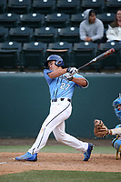 Noah Prewett (27) of the University of San Diego Toreros bats against the UCLA Bruins at Jackie Robinson Stadium on March 4, 2017 in Los Angeles, California.  USD defeated UCLA, 3-1. (Larry Goren/Four Seam Images)