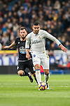 Carlos Henrique Casemiro (r) of Real Madrid battles for the ball with Emre Colak of RC Deportivo La Coruna during the La Liga match between Real Madrid and RC Deportivo La Coruna at the Santiago Bernabeu Stadium on 10 December 2016 in Madrid, Spain. Photo by Diego Gonzalez Souto / Power Sport Images