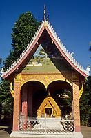 Asie/Laos/ENV Ventiane/Luang Prabang: Vat Xieng Thong détail du monastere construit en 1718