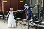 Foto: VidiPhoto<br /> <br /> ARNHEM - Bruiloft van Eibert-Jan van Leeuwen en Marijke van Silfhout in het Nederlands Openluchtmuseum in Arnhem op 19-4-2016.