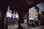 Cervelo- Bigla Pro Cycling Team at the Team presentation of La Fleche Wallonne Femmes 2018 running 118.5km from Huy to Huy, Belgium. 17/04/2018.<br /> Picture: ASO/Thomas Maheux | Cyclefile.<br /> <br /> All photos usage must carry mandatory copyright credit (© Cyclefile | ASO/Thomas Maheux)