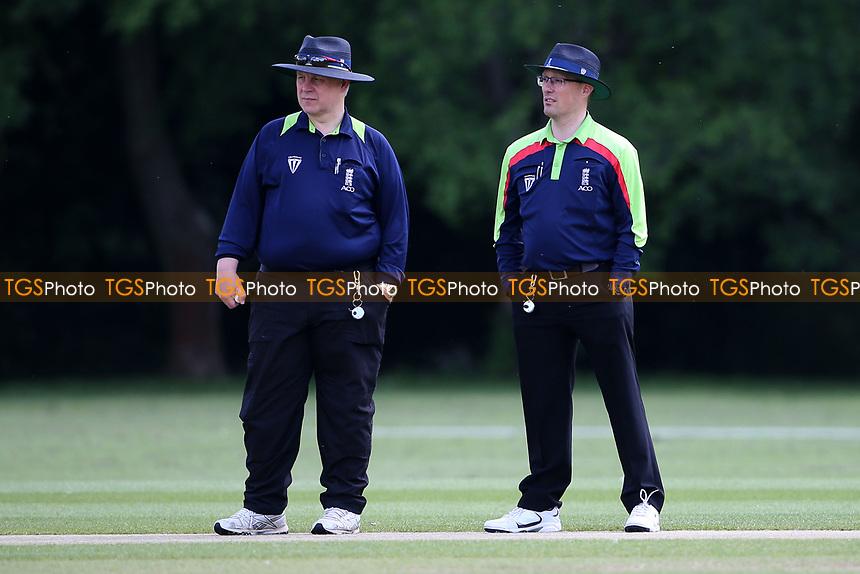 The umpires during Hornchurch CC vs Harold Wood CC, Hamro Foundation Essex League Cricket at Harrow Lodge Park on 5th June 2021