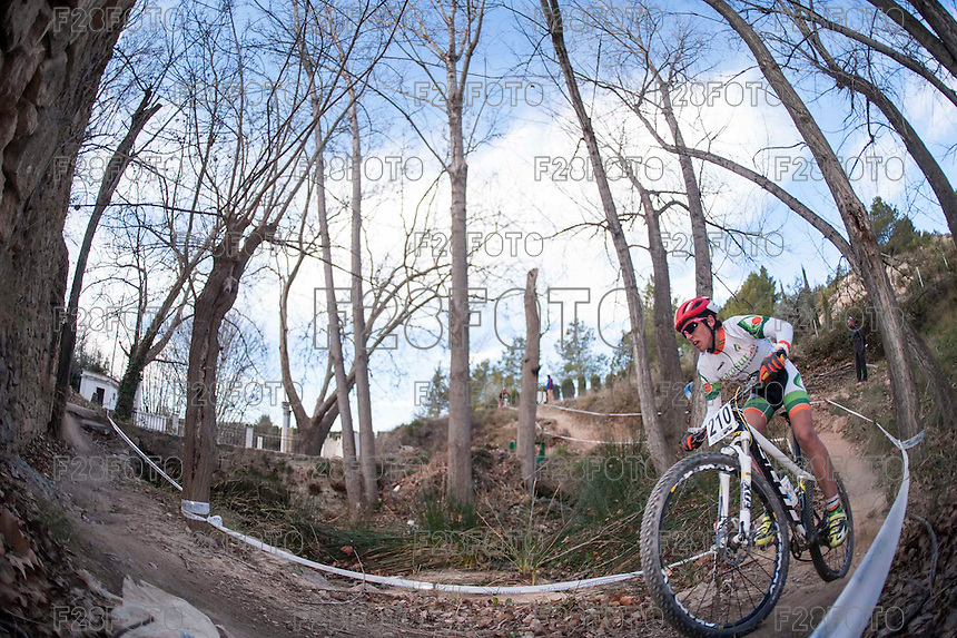 Chelva, SPAIN - MARCH 6: Alejandro Jimenez during Spanish Open BTT XCO on March 6, 2016 in Chelva, Spain