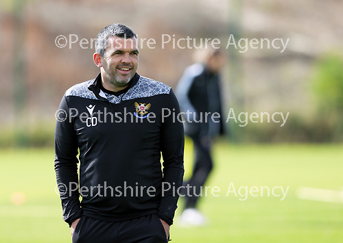 St Johnstone Training….McDiarmid Park, Perth.<br />Manager Callum Davidson pictured during training ahead of Saturday's game at Motherwell.<br />Picture by Graeme Hart.<br />Copyright Perthshire Picture Agency<br />Tel: 01738 623350  Mobile: 07990 594431