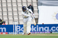Shubman Gill, India pushes into the on side during India vs New Zealand, ICC World Test Championship Final Cricket at The Hampshire Bowl on 19th June 2021