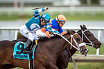 HALLANDALE BEACH, FL - December 09: Take Charge Paula, #9, overtakes Razorback Lady on the stretch to take the $75,000 House Party for Trainer Kelly J. Breen. Paco Lopez in the irons at Gulfstream Park on December 9, 2017 in Hallandale Beach, FL. (Photo by Bob Aaron/Eclipse Sportswire/Getty Images.)