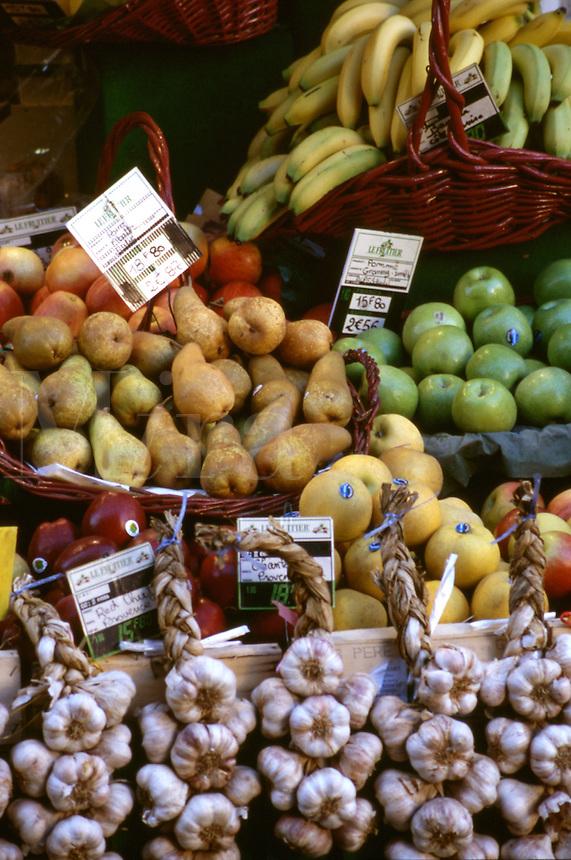 Detail of fruit and vegetable market, Avignon, France