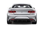 Straight rear view of 2017 Mercedes Benz S-Class - 2 Door Coupe Rear View  stock images