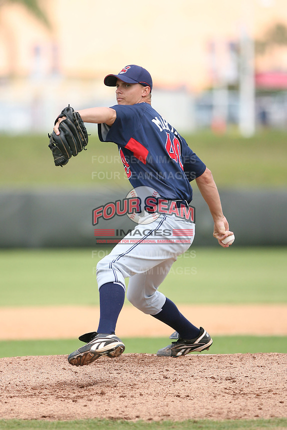 March 20th 2008:  J.D. Martin of the Cleveland Indians minor league system during Spring Training at Chain of Lakes Training Complex in Winter Haven, FL.  Photo by:  Mike Janes/Four Seam Images
