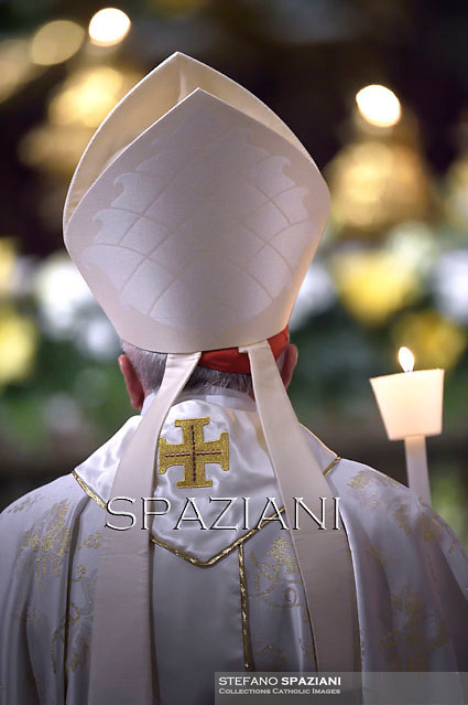 Cardinal,Pope Francis, during the Easter vigil mass in Saint Peter's Basilica, in the Vatican,.April 18,2014