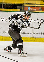 13 November 2015: Providence College Friar Defender Ariana Buxman, a Junior from Glenwood Springs, CO, in action against the University of Vermont Catamounts at Gutterson Fieldhouse in Burlington, Vermont. The Lady Friars defeated the Lady Cats 4-1 in Hockey East play. Mandatory Credit: Ed Wolfstein Photo *** RAW (NEF) Image File Available ***