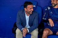 22nd September 2021: RCDE Stadium, Barcelona, Spain: La Liga Football, Espanyol versus Atletico Madrid; <br /> Javi Calleja manager of Deportivo Alavés on the bench