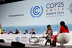 nAna Patricia Botín CEO of Banco Santander and ex president of Ireland Mary Robinson during the nineth day of COP25 in IFEMA Madrid on Dec 11, 2019 (ALTERPHOTOS/Manu R.B.)