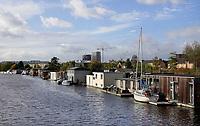 Nederland  Amsterdam-  2020.   Amsterdam Noord. Woonboten in Zijkanaal 1.   Foto : ANP/ HH / Berlinda van Dam