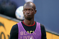 CHICAGO, UNITED STATES - AUGUST 25: Michael Azira #16 of Chicago Fire looks on during a game between FC Cincinnati and Chicago Fire at Soldier Field on August 25, 2020 in Chicago, Illinois.