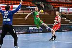 n12Bjoern Buhrmester, 44Kevin Gulliksen beim Spiel in der Handball Bundesliga, TSV GWD Minden - HSG Nordhorn-Lingen.<br /> <br /> Foto © PIX-Sportfotos *** Foto ist honorarpflichtig! *** Auf Anfrage in hoeherer Qualitaet/Aufloesung. Belegexemplar erbeten. Veroeffentlichung ausschliesslich fuer journalistisch-publizistische Zwecke. For editorial use only.