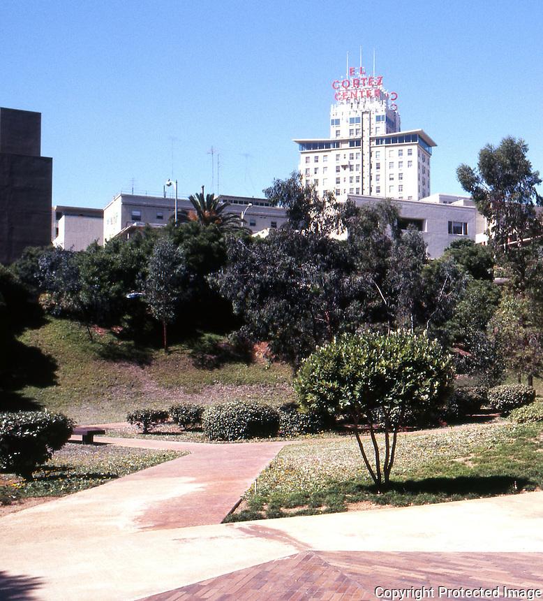San Diego: San Diego Federal Plaza. El Cortez in background.