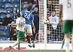 Lewis Stevenson blasts the ball home for Hibs second goal