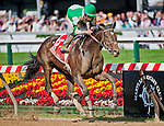 Royal Delta, ridden by Jose Lezcano and trained by Bill Mott, cruises to victory in the Black-Eyed Susan Stakes at Pimlico Race Course in Baltimore, Maryland on May 20, 2011