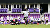 Orlando, Florida - Friday January 12, 2018: Ema Twumasi during the sprint. The 2018 adidas MLS Player Combine Skills Testing was held Orlando City Stadium.