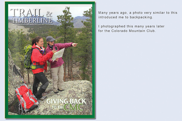 John, TandT Cover 2 women hiking, Trail and Timberline, CMC cover, navigation, mentoring