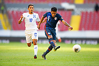 GUADALAJARA, MEXICO - MARCH 28: Jesus Ferreira #9 of the United States takes a shot during a game between Honduras and USMNT U-23 at Estadio Jalisco on March 28, 2021 in Guadalajara, Mexico.