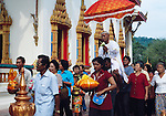Thailand, Phuket, Wat Chalong: most popular Buddhist temple on Phuket island, initiation ceremony