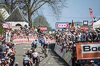 later winner Julian Alaphilippe (FRA/Quick Step Floors) with his decisive move in the final 150m<br /> <br /> <br /> 82nd La Flèche Wallonne 2018<br /> 1 Day Race: Seraing - Huy (198,5km)