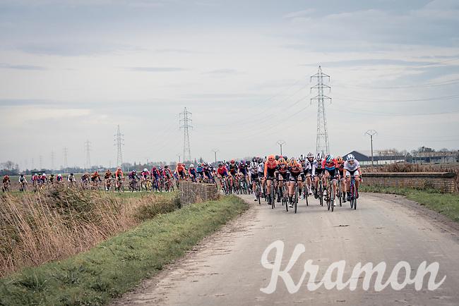 Christine Majerus (LUX/Boels-Dolmans) & Team Boels-Dolmans coming to the front<br /> <br /> AG Driedaagse Brugge-De Panne 2020 (1.WWT)<br /> 1 day race from Brugge to De Panne (156km) <br /> <br /> ©kramon