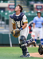 Belen Jesuit Wolverines catcher Gio Cueto (14) during the 42nd Annual FACA All-Star Baseball Classic on June 5, 2021 at Joker Marchant Stadium in Lakeland, Florida.  (Mike Janes/Four Seam Images)