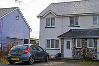 Pictured: A general view of the family home in Pontrhydfendigaid, Ceredigion, Wales, UK.<br /> Re: Three-year-old Zach Harvey was killed in a caravan fire in the early hours of Sunday morning at Ffair Rhos, near Tregaron, Ceredigion, west Wales.<br /> His father Shaun Harvey and his four year old brother Harley is in a critical but stable condition in hospital and his dad's condition is stable.<br /> The fire service said a touring caravan and vehicle were completely destroyed and adjacent property damaged in the blaze.<br /> Emergency services had been called to the scene at 5.35am on Sunday.