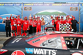 #20: Christopher Bell, Joe Gibbs Racing, Toyota Camry Rheem and team celebrate in victory lane