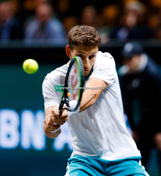 Rotterdam, The Netherlands, 15 Februari 2020, ABNAMRO World Tennis Tournament, Ahoy, <br /> Pablo Carreno Busta (ESP).<br /> Photo: www.tennisimages.com